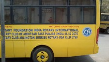 A bus donated to a school